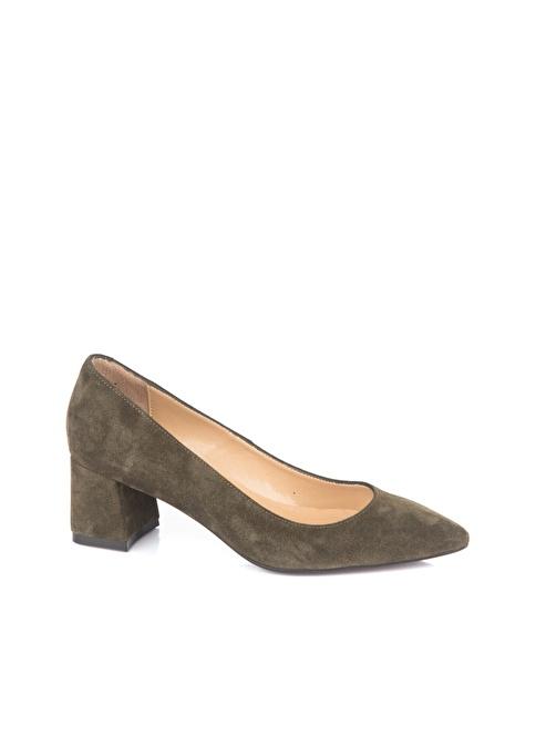 Elle Topuklu Ayakkabı Yeşil
